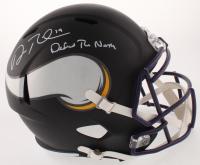 "Adam Thielen Signed Minnesota Vikings Matte Black Full-Size Speed Helmet Inscribed ""Defend the North"" (TSE COA)"