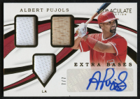 2019 Immaculate Collection Extra Bases Triple Memorabilia Autographs #12 Albert Pujols