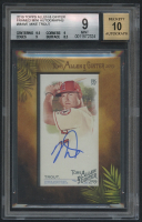 2019 Topps Allen and Ginter Framed Mini Autographs #MAMT Mike Trout (BGS 9)