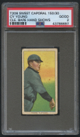 1909-11 T206 #524 Cy Young / Bare Hand Shows - Sweet Caporal (PSA 2)