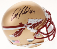 Anquan Boldin Signed Florida State Seminoles Mini Helmet (Beckett COA)