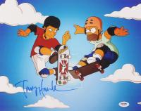 """Tony Hawk Signed """"The Simpsons"""" 11x14 Photo (PSA COA)"""