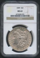 1899 $1 Morgan Silver Dollar (NGC MS 62)