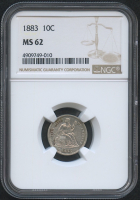 1883 10¢ Seated Liberty Dime (NGC MS 62) at PristineAuction.com