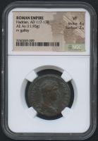 AD 117-138 Roman Empire - Hadrian - AE AS Coin (NGC VF)