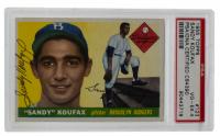 Sandy Koufax Signed 1955 Topps #123 RC (PSA 4)