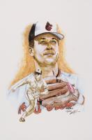 Cal Ripken Jr. - Orioles - Brian Barton 12x18 Signed Limited Edition Lithograph #/250 (PA COA) at PristineAuction.com