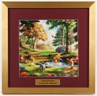 "Thomas Kinkade Walt Disney's ""Winnie The Pooh"" 17.5x18 Custom Framed Print Display"