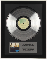 "The Eagles Custom Framed 15.5x19.75 Silver Plated ""Hotel California"" Record Album Award Display"