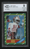 1986 Topps #161 Jerry Rice RC (BCCG 9) at PristineAuction.com