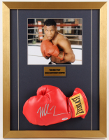 Mike Tyson Signed 17x22 Custom Framed Boxing Glove Display (PSA COA)