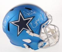 Dak Prescott, Ezekiel Elliott & Amari Cooper Signed Dallas Cowboys Full-Size Blaze Speed Helmet (Beckett COA & Prescott Hologram)