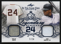 2019 ITG Used Sports Legendary Numbers Dual Memorabilia Navy Blue #LN22 Willie Mays / Ken Griffey Jr.