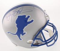 Barry Sanders Signed Detroit Lions Full-Size Throwback Helmet (JSA COA)