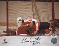 "Bernie Parent Signed Philadelphia Flyers 8x10 Photo Inscribed ""HOF 84"" (PSA COA)"