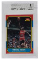 1986-87 Fleer #57 Michael Jordan RC (BGS 8)