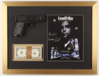 "Henry Hill Signed ""GoodFellas"" 17x22 Custom Framed Photo Display with Replica Gun & Prop Money Inscribed ""Goodfella"" (PSA COA)"