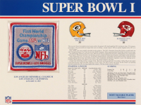 Super Bowl I Commemorative 9x12 Score Card Display with Patch at PristineAuction.com