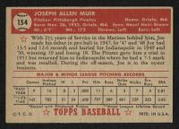 1952 Topps #154 Joe Muir RC at PristineAuction.com