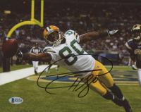 Donald Driver Signed Green Bay Packers 8x10 Photo (Beckett COA)