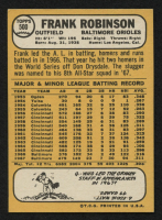 1968 Topps #500 Frank Robinson at PristineAuction.com