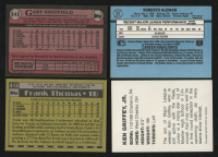 Lot of (4) Assorted Baseball Cards with 1990 Topps #414B Frank Thomas RC, 1989 Topps #343 Gary Sheffield RC, 1988 Donruss #34 Roberto Alomar RC & 1987 Griffey Moeller High School Unauthorized #NNO Ken Griffey Jr. at PristineAuction.com