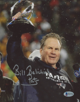 "Bill Belichick Signed New England Patriots 8x10 Photo Inscribed ""Pats"" (Beckett COA)"