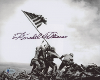 "Hershel W. Williams Signed ""Raising the Flag on Iwo Jima"" 8x10 Photo (Beckett COA)"