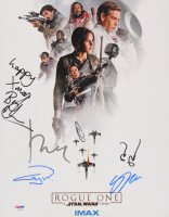 """Rogue One: A Star Wars Story"" 11x14 Photo Cast-Signed by (6) with Felicity Jones, Donnie Yen, Gary Whitta, Alan Tudyk (PSA LOA)"