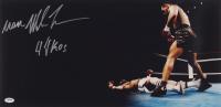 """Iron"" Mike Tyson Signed 12x24 Photo Inscribed ""44 KOS"" (PSA Hologram)"