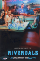 """""""Riverdale"""" 12x18 Photo Cast-Signed By (4) with Lili Reinhart, Cole Sprouse, Madelaine Petsch, & Camila Mendes (PSA LOA) at PristineAuction.com"""