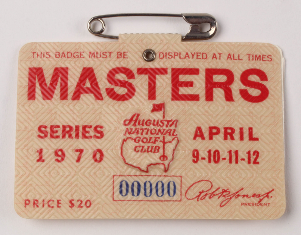 1970 Masters Tournament Golf Badge at PristineAuction.com