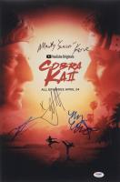 """Cobra Kai"" 12x18 Photo Cast-Signed by (4) with Martin Kove, Xolo Mariduena, Tanner Buchanan & Mary Mouser (PSA LOA) at PristineAuction.com"