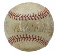 1934 Tour Of Japan OAL Baseball Team-Signed by (17) with Babe Ruth, Lou Gehrig, Lefty O'Doul, Left Gomez (PSA LOA)