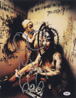 """Marilyn Manson Signed 11x14 Photo Inscribed """"666"""" with Hand-Drawn Sketch (PSA Hologram) at PristineAuction.com"""