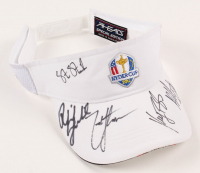 2012 Ryder Cup Adjustable Visor Signed by (5) with Phil Mickelson, Bubba Watson, Steve Stricker, Zach Johnson & Keegan Bradley (JSA COA)