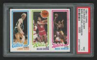 1980-81 Topps #6 34 Larry Bird RC / 174 Julius Erving TL / 139 Magic Johnson RC (PSA 7) at PristineAuction.com