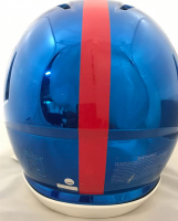 Saquon Barkley Signed New York Giants Full-Size Authentic On-Field Chrome Speed Helmet (Steiner Hologram) at PristineAuction.com