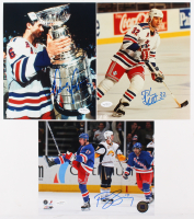 Lot of (3) Signed New York Rangers 8x10 Photos with (1) Stephane Matteau, (1) Brandon Dubinsky & (1) Doug Lidster (JSA SOA) at PristineAuction.com