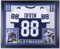 Michael Irvin Signed 35x43 Custom Framed Jersey (JSA Hologram)