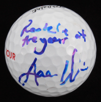 "Aaron Wise Signed Titleist Golf Ball Inscribed ""Rookie Of The Year"" (JSA COA)"