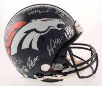 "Super Bowl 50 Champions Denver Broncos Full-Size Authentic On-Field Helmet Team-Signed by (10) with Peyton Manning, Von Miller, T.J. Ward, Aqib Talib, DeMarcus Ware Inscribed ""SB 50 MVP"" (Fanatics Hologram)"