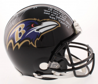 Ray Lewis Signed Baltimore Ravens Full-Size Authentic On-Field Helmet with (5) Career Stat Inscriptions (JSA COA)