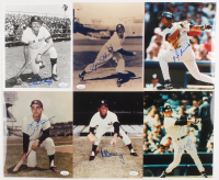 Lot of (6) Signed New York Yankees 8x10 Photos with Ron Bloomberg, Spec Shea, Clay Bellinger, Al Downing, Joe Pepitone (JSA COA & Sports Cards SOA)