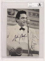 Johnny Cash Signed 6.75x9.75 Photo (BAS Encapsulated) at PristineAuction.com