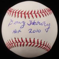 "Doug Harvey Signed OML Baseball Inscribed ""HOF 2010"" (SOP COA)"