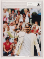 Roger Federer Signed Wimbledon 8x10 Photo (BAS Encapsulated)