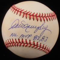 "Dale Murphy Signed ONL Baseball Inscribed ""NL MVP 82, 83"" (SOP COA)"