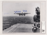 "Richard E. Cole, Edward Saylor & David Thatcher Signed 8x10 Photo Inscribed ""Gunner #7"" & ""#1 Copilot"" (BAS Encapsulated)"