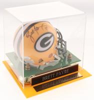 Brett Favre Signed Green Bay Packers Mini Helmet with Display Case (JSA Hologram)